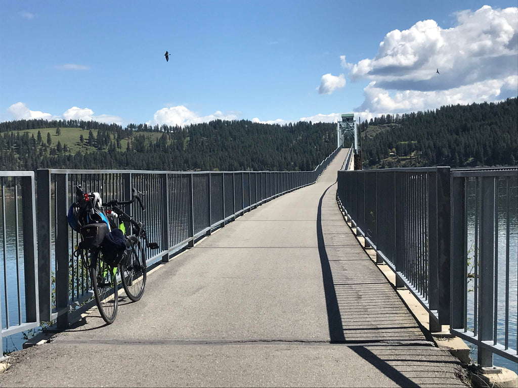 Cycling the Trail of the Coeur d'Alene on a Cruzbike recumbent road bike