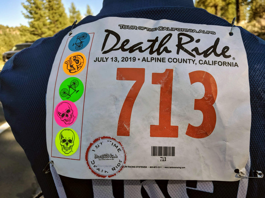 Death Ride Alpine County, CA stickers - collect all five