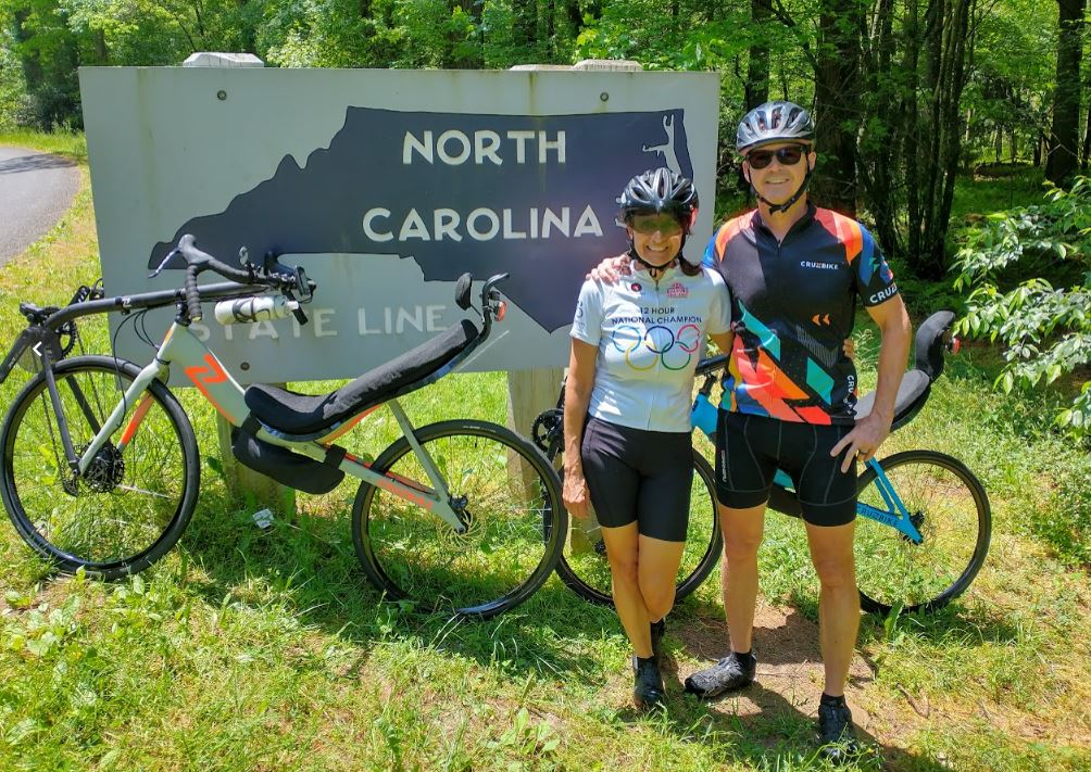 Crossing the NC State Line on Recumbent Road Bikes