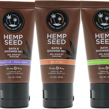 (MultiPack) Earthly Body Hemp Seed shower/bath gel Variety Bundle