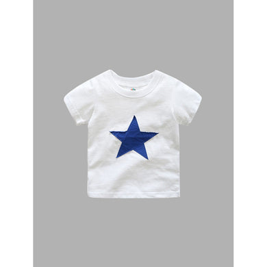 Boys Star And Letter Print T-shirt