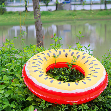 Yellow Kiwi Summer Beach Toys Pool Floats Inflatable Toy Party Games Adults Kids Swimming Rings Outdoor Fun Sports 70/80/90CM