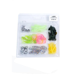 Hot! 42pc Variety Pack of Silicone Fishing Lures + 10pc weighted hooks