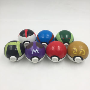 collectible Pokemon memorabilia. Full set of all seven Pokeball Bud Busters / multi-compartment pot grinders with kief catcher