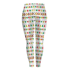 Ladys curve- showing Christmas Print Leggings