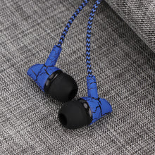 Powstro 3.5mm Fashion Design Nylon Braided Crack Earphone Cloth Rope Earpieces Stereo Bass Music Headset for Cellphone MP3 MP4