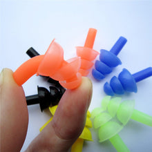 Swimmers Silicone Ear-Plugs and matching Nose-Clip - 6 complete sets in 6 vibrant colors!