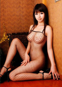 Open Crotch Fishnet Bodystocking - choose from 3 seductive shades!