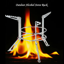 Stainless Steel Stand for Portable Gas & Alcohol fueled camping stoves