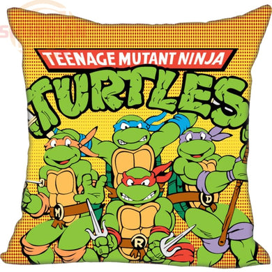Custom Teenage Mutant Ninja Turtles Square Zippered Pillowcases | 20x20cm, 35x35cm or 40x40cm |