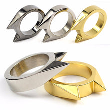 Stainless Steel Self Defense Ring for animal attacks + Vehicle Window Breaker- Portable Rescue Device - Survival Gear - EDC Tool