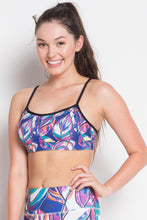 Colorful Printed Sports Bra