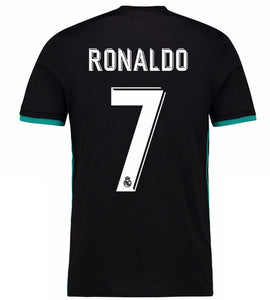 2018 Fifa World Cup  |  Real Madrid Jersey - Away (Black) | Personalized --- Complete Customizability
