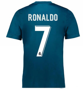 2018 Fifa World Cup  |  Real Madrid Jersey - Away (Blue) | Personalized --- Complete Customizability