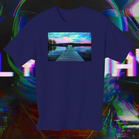 T-shirt End Vapor Blue