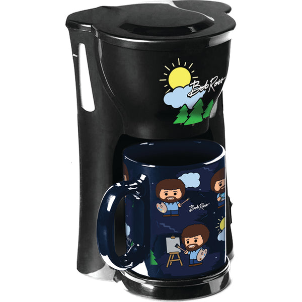 Bob Ross Single Cup Coffee Maker with Mug