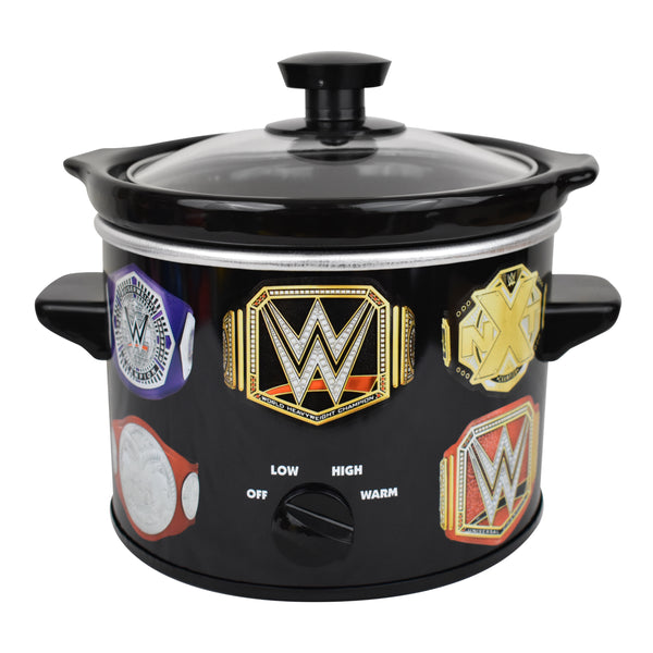 WWE Championship Belt 2 QT Slow Cooker- Removable Ceramic Insert Bowl