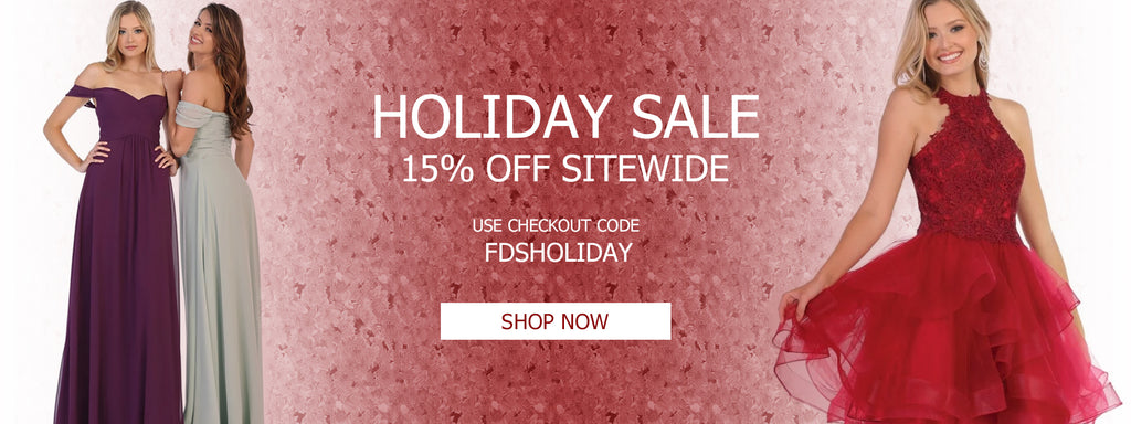 Holiday Sale Site Wide - 15% Off Evening Gowns, Formal Dresses, Bridesmaids, Mother of the bride, Ball Gowns