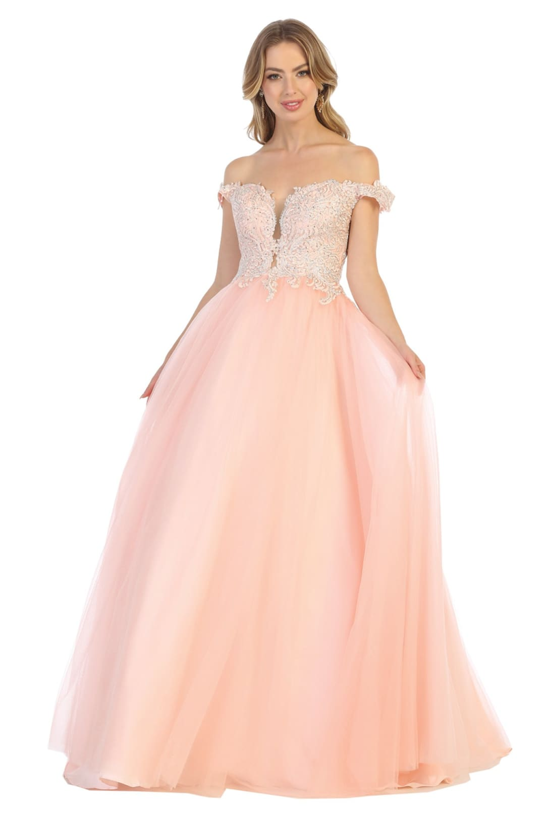 A-line Classy Prom Dress And Plus Size