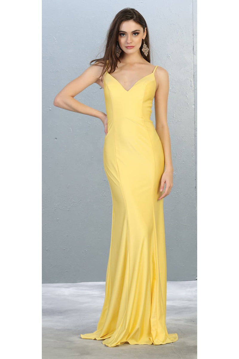 Bodycon Long Evening Gown - YELLOW / 2