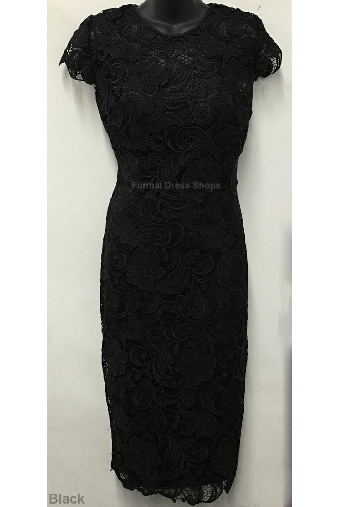 Classy Short Mother of the Groom Dress - Black / 4XL