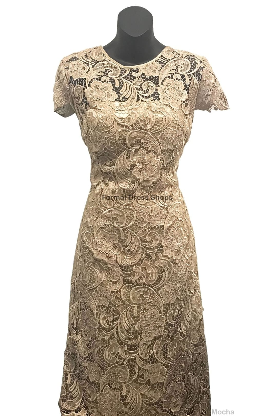 Classy Short Mother of the Groom Dress - Mocha / L