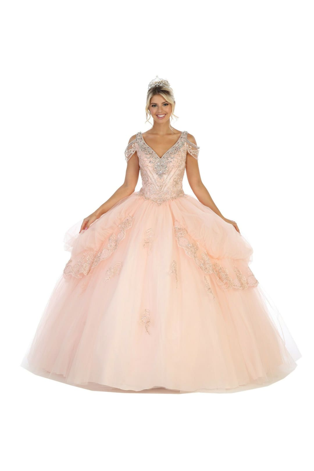 Corset Quinceanera Dress - Blush / 2