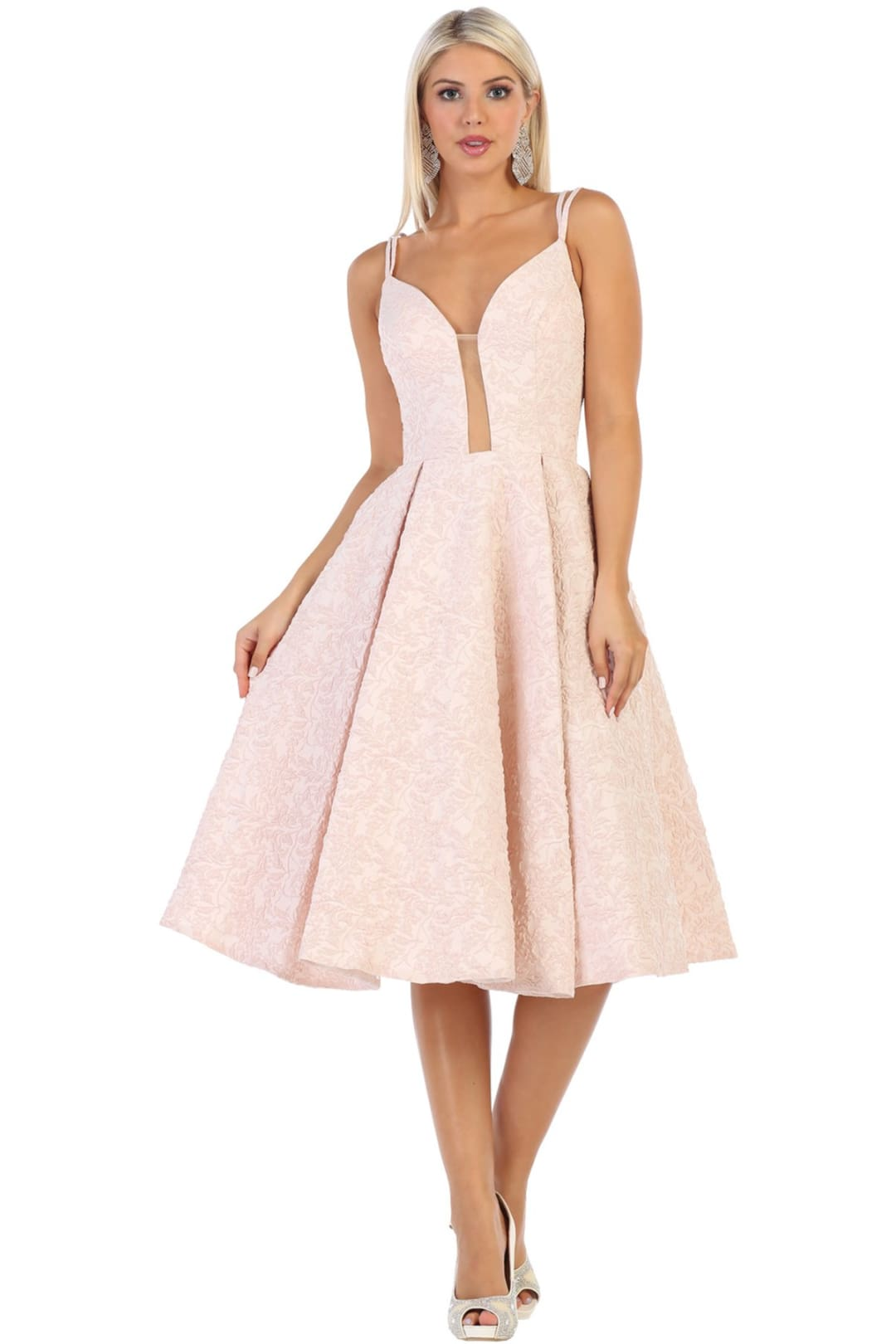 Cute Short Prom Dress - Blush / 4