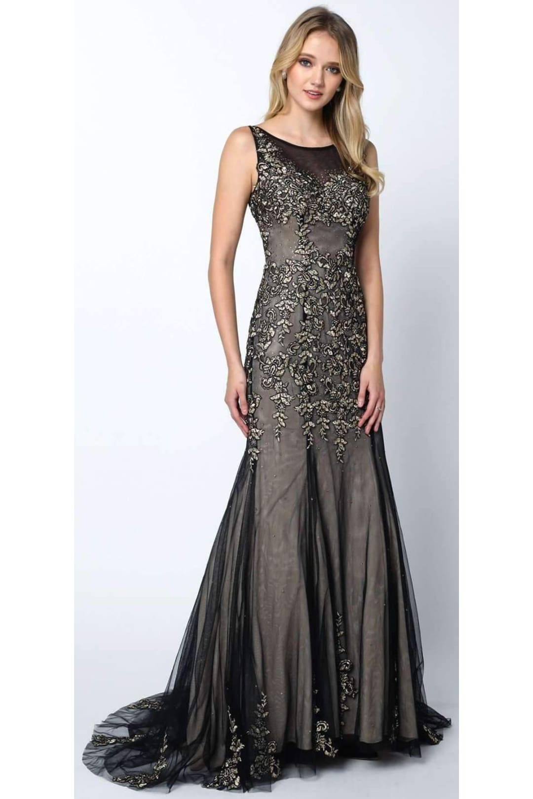 Enchanting Prom Gown - Black / XS