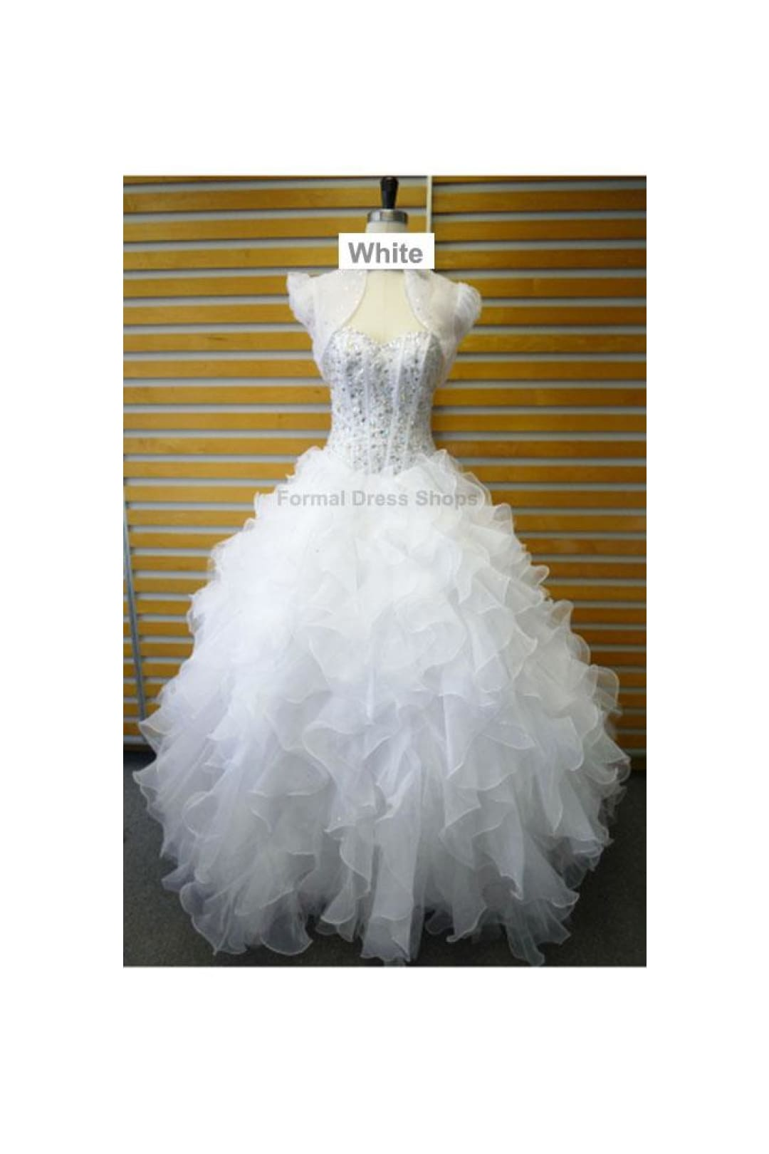 Fashionable Pageant Ball Dress - White / 6