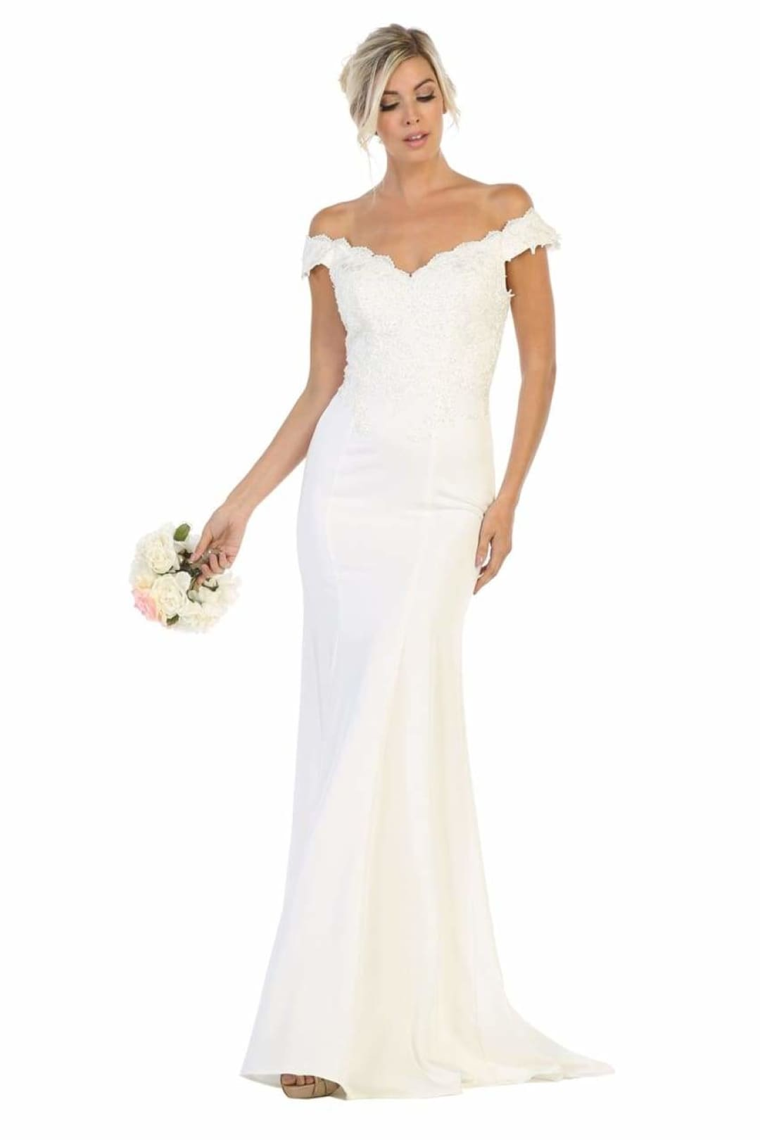 Fitted Wedding Gown - Ivory / 4