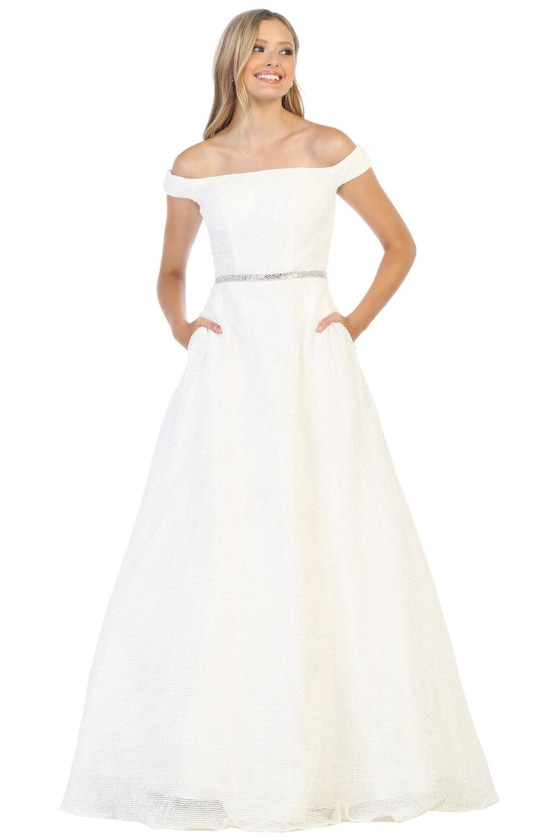 Formal Wedding Gowns And Plus Size - IVORY / 4
