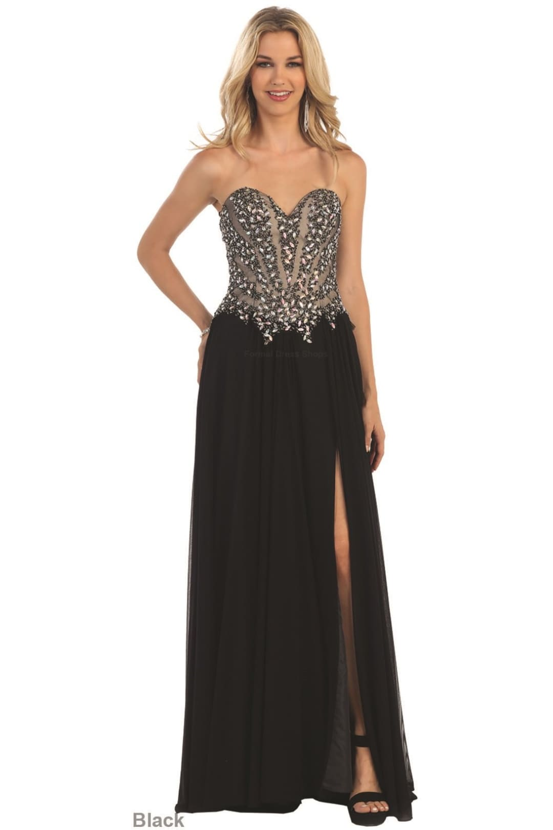 Glamorous Pageant Dress - Black / 4