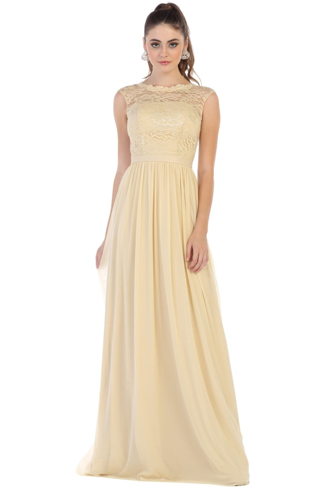 Long Bridesmaids Gown - Champagne / 4