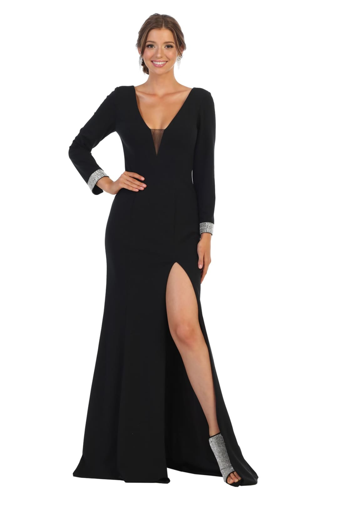 Long Sleeve Plus Size Formal Gowns