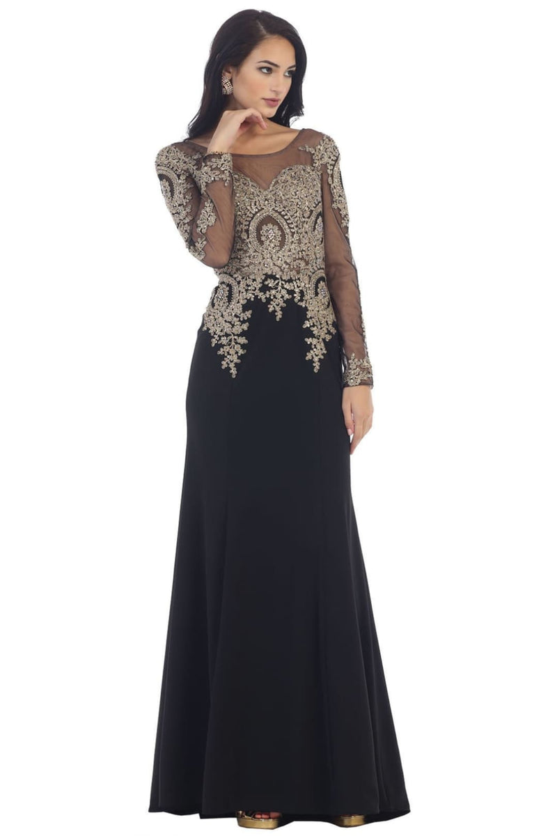 Magnificent Evening Dress for all Ages - Black / 22