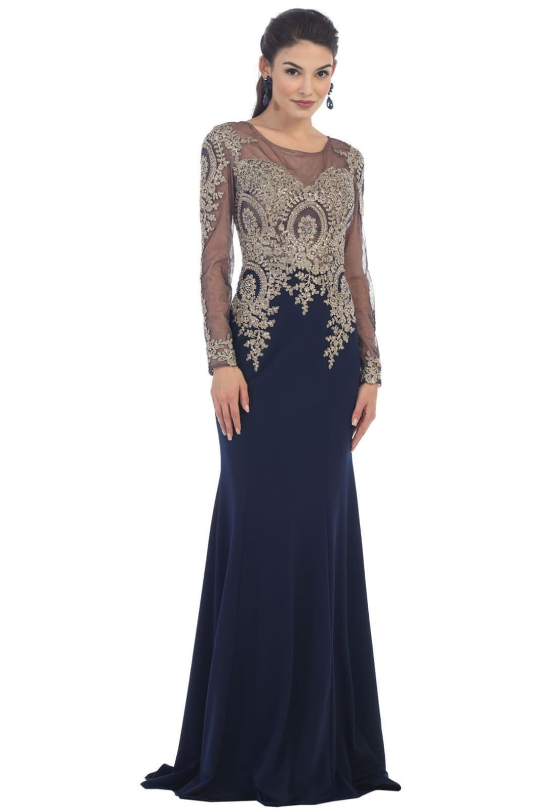 Magnificent Evening Dress for all Ages - Navy / 6