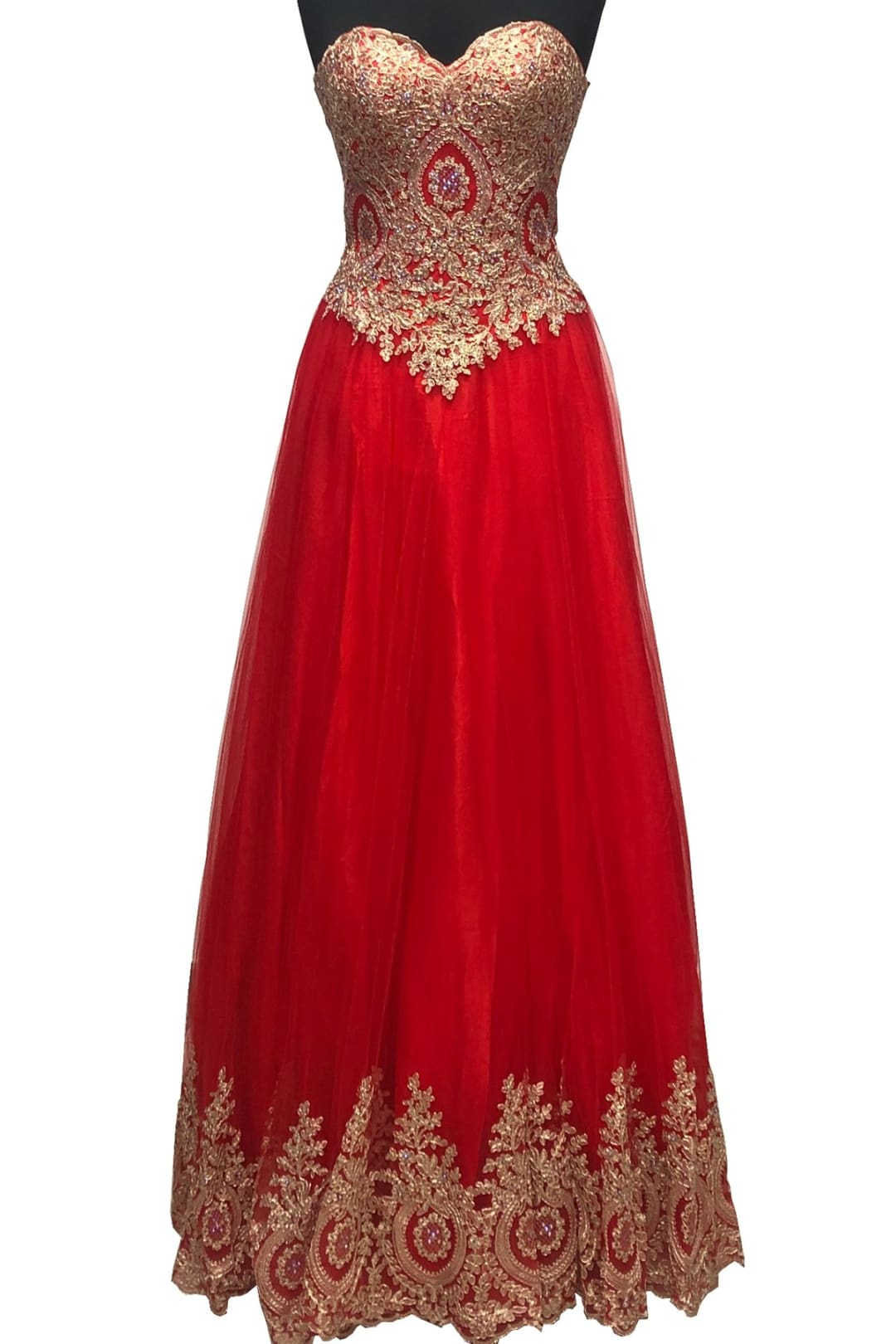 Masquerade Ball Gown - Red / 10