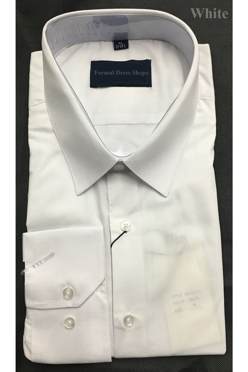Mens White Long Sleeve Dress Shirt - S (14-14 1/2)