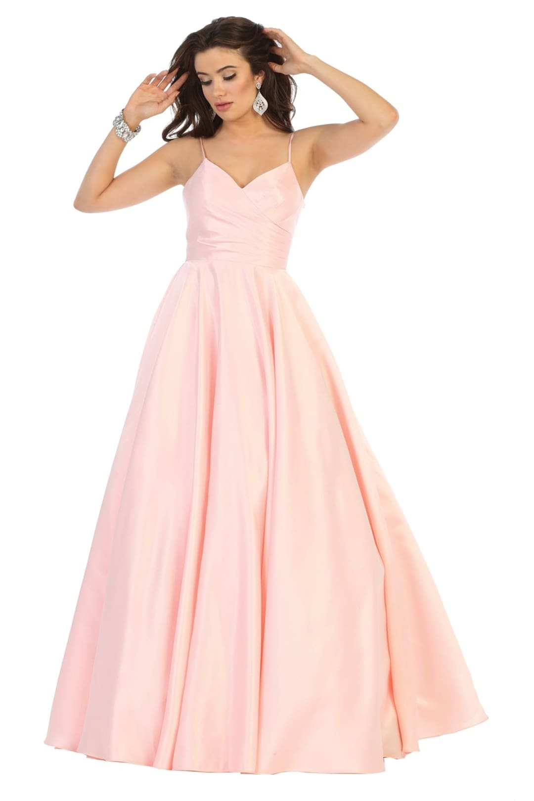 Modern Evening Gown - Blush / 8