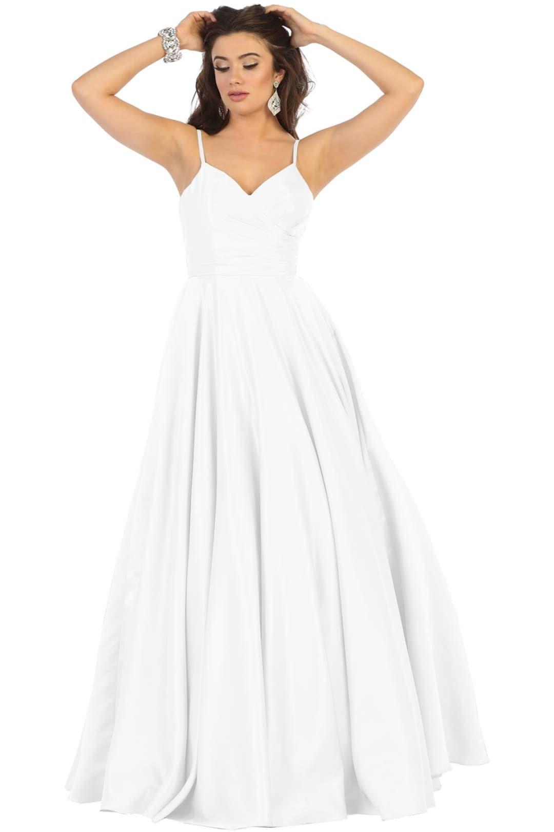 Modern Wedding Gown - White / 6