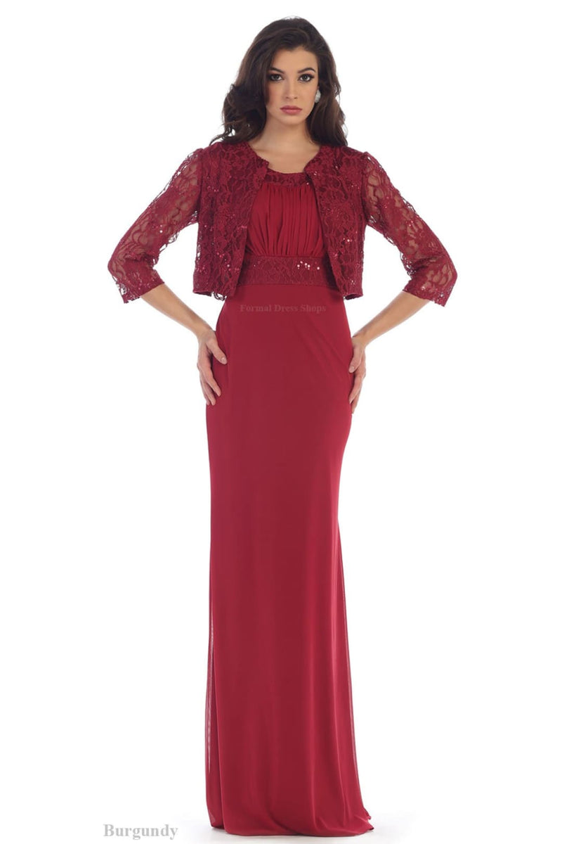 Mother of Groom Gown - Burgundy / XL