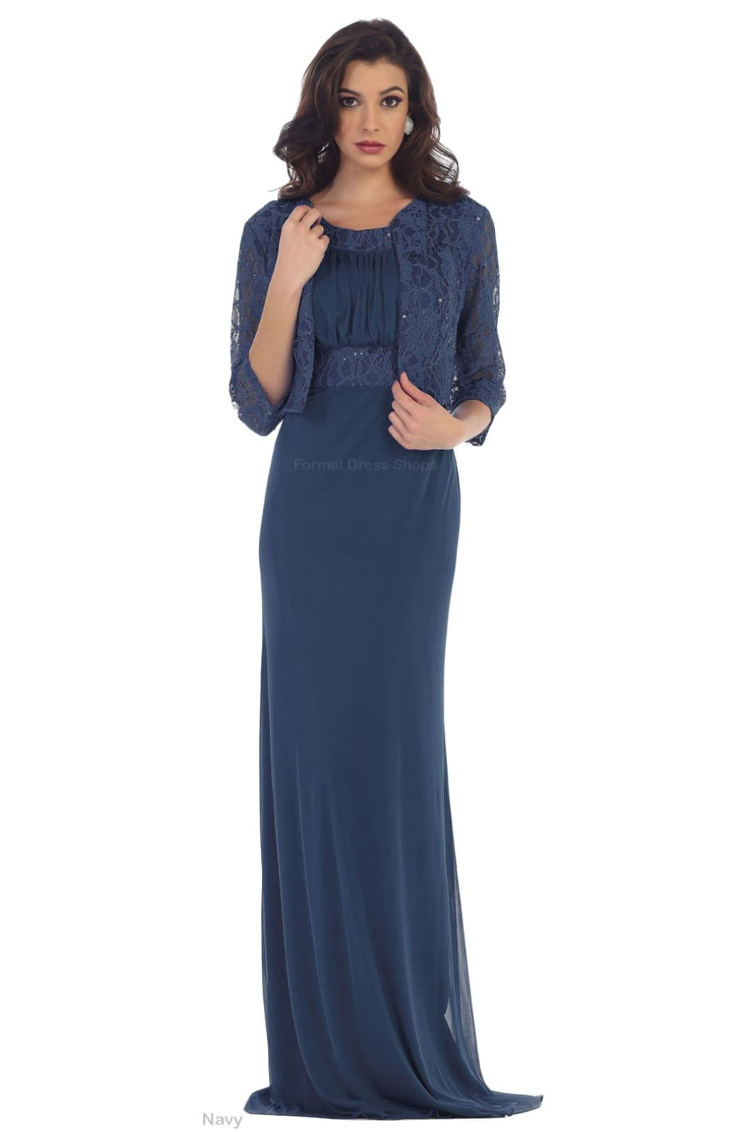 Mother of Groom Gown - Navy / XL