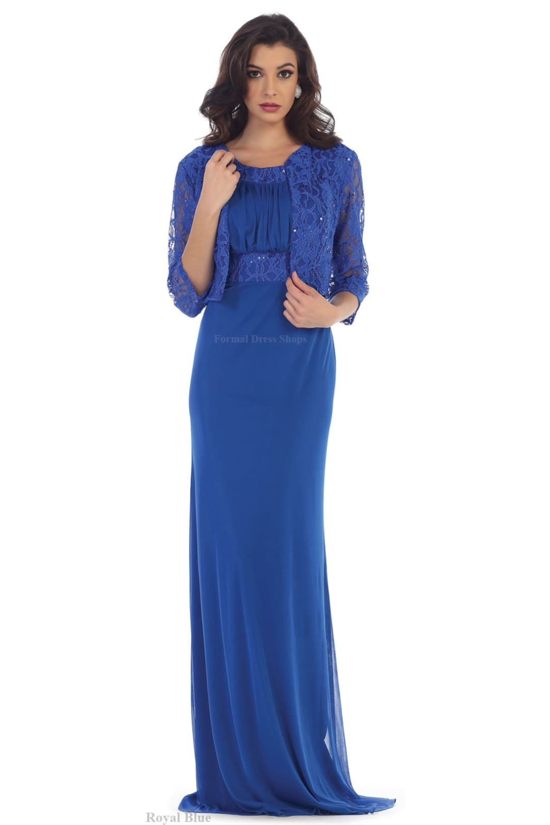 Mother of Groom Gown - Royal Blue / XL