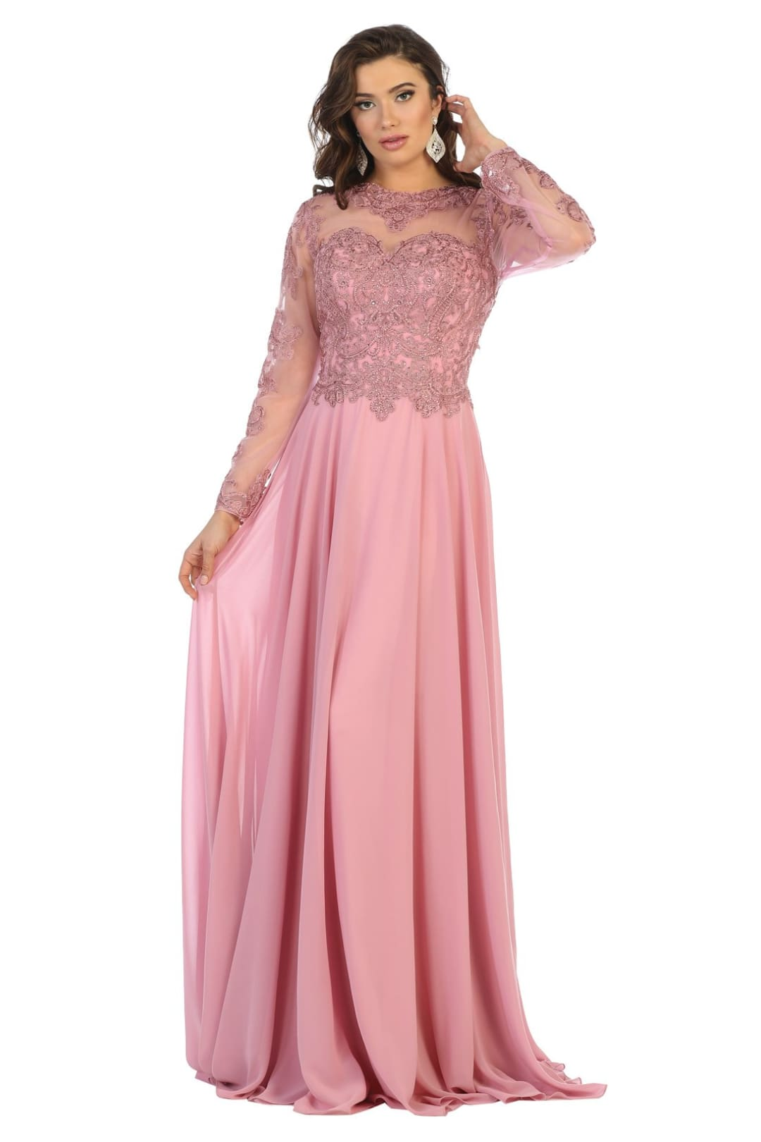 Mother of the Bride Dress - Dusty Rose / M