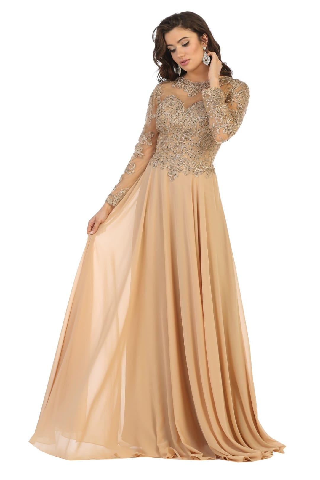 Mother of the Bride Dress - Gold / M
