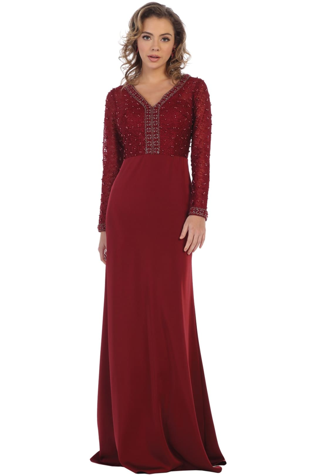 Mother of the Groom Gown - Burgundy / L