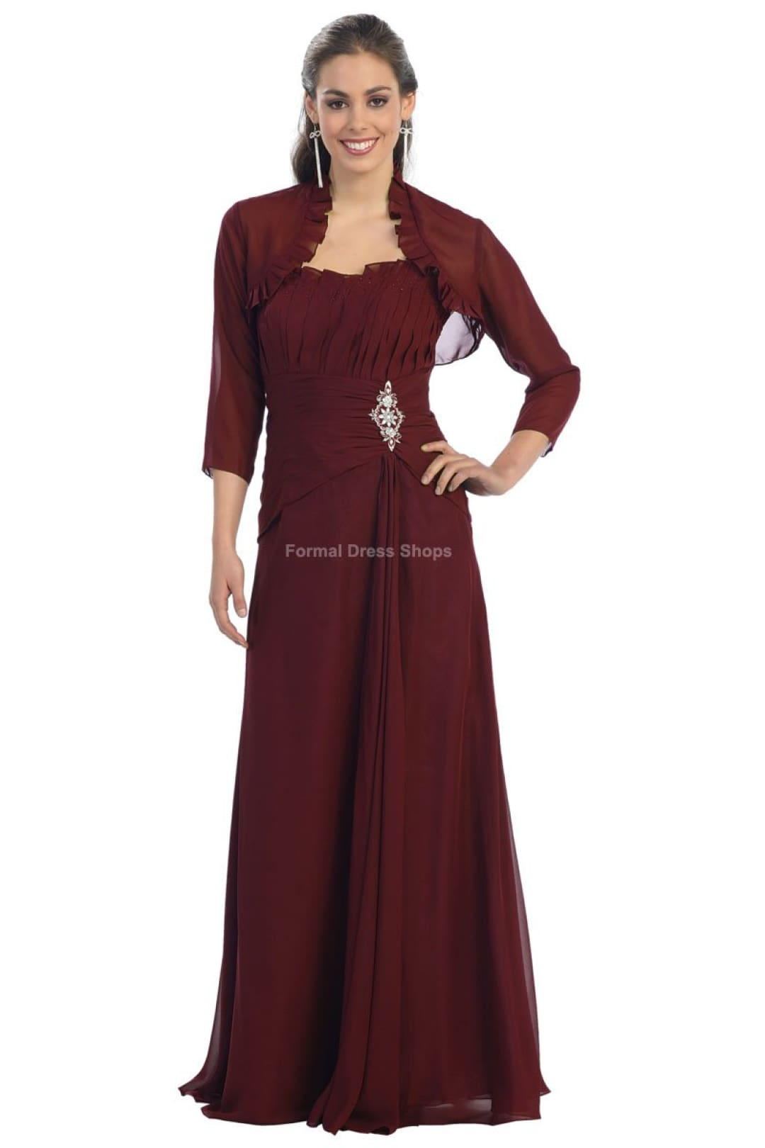 Nice Evening Gown - Burgundy / S