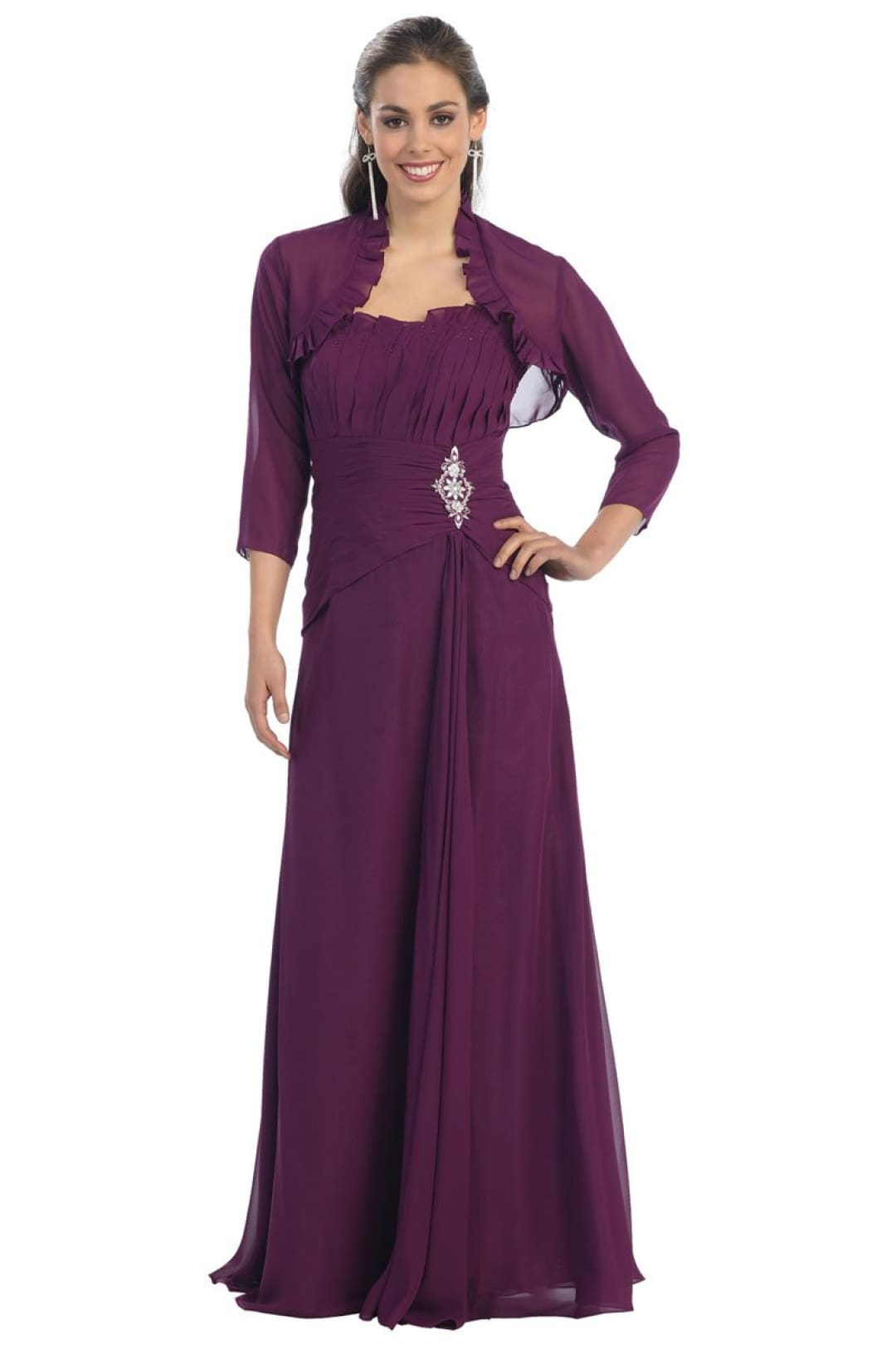 Nice Evening Gown - Eggplant / S