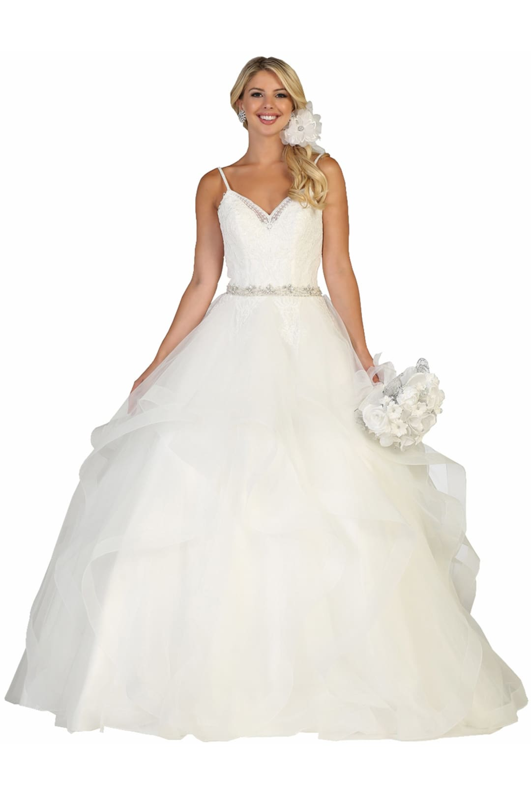 Princess Bridal Gown - Ivory / 4